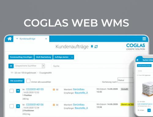 COGLAS erhält das Teilnehmerzertifikat 2020 der Logistik IT-Plattform »warehouse logistics«