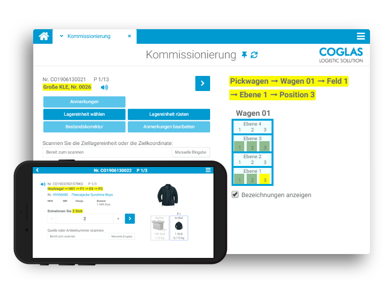 COGLAS WEB WMS - Kommissionierung